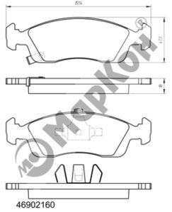 НОВИНКА 2018 ГОДА. Передние колодки для автомобилейCHEVROLET Cobalt, Aveo II,III