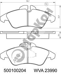 НОВИНКА 2018 года. Передние и задние колодки для автомобилей MERCEDES –BENZ, VW