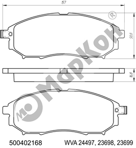 НОВИНКИ. Передние и задние колодки для автомобилей RENAULT INFINITI NISSAN