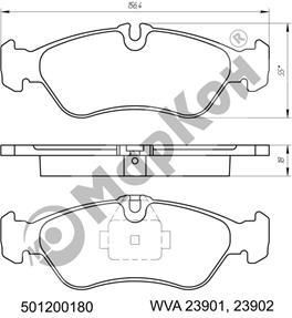 НОВИНКА 2018 года. Задние колодки с тормозной системой TEVES для автомобилей MERCEDES-BENZи VW